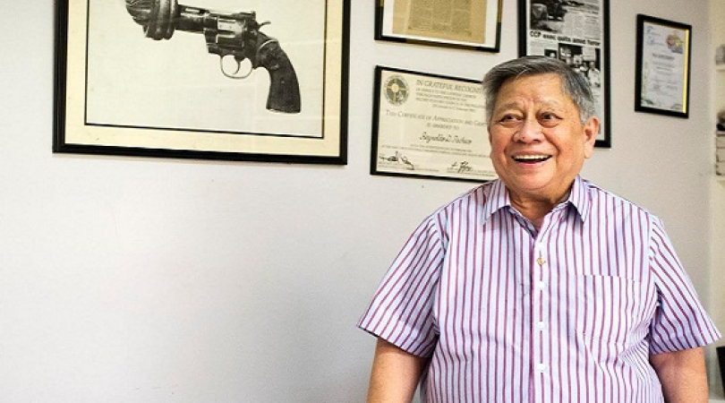 "Reynaldo ""Nandy"" Pacheco is one of the Philippines' most outspoken critic of the country's gun cultu"