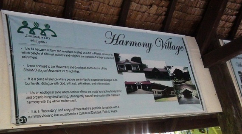 Harmony Village posted along the outdoor corridor. (Photo: Madonna Virola)