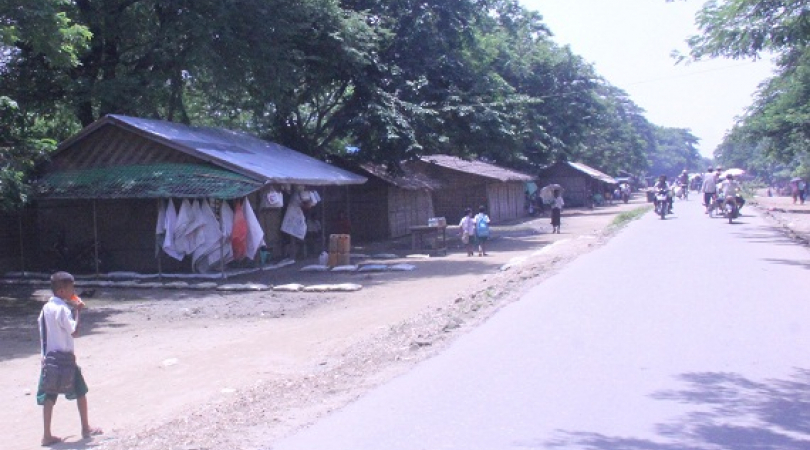 Rohingya refugees camp in Sittwe. (Photo: Phyu Zin Poe)